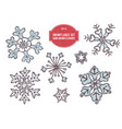 collection of hand drawn snowflakes vector image