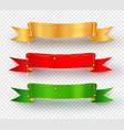 collection realistic festive ribbon banners vector image