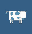 Cow isolated on background in cartoon flat design