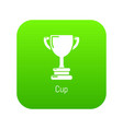 cup icon green vector image