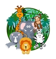 cute safari cartoon vector image vector image