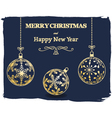 dark Merry Christmas and New Year background vector image vector image