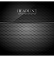 Dark metallic perforated texture with glass banner vector image