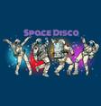 disco party astronauts dancing men and women vector image vector image