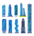 downtown skyscrapers collection modern city vector image vector image