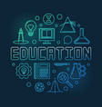 education concept round colored outline vector image vector image