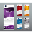 et of vertical roll up banners templates vector image vector image
