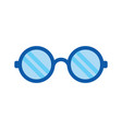 eye glasses icon - optical fashion glasses vector image vector image