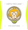 Fire Monkey Two vector image vector image