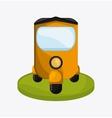 Flat about rickshaw design vector image vector image