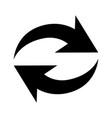 flat black repeat icon vector image vector image