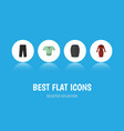 flat icon clothes set of pants casual clothes vector image vector image