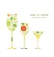fresh salad three wine glasses silhouettes vector image vector image