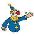 Funny blue goof vector image vector image