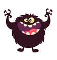funny cartoon black monster vector image vector image