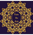 Gold ornamental card with antique luxury violet vector image