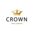 golden sign crown king design modern logos vector image vector image