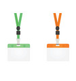 green and orange lanyard vector image