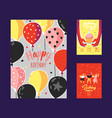 happy birthday greeting card poster banner vector image