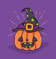happy halloween cartoons vector image vector image