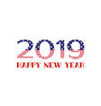 happy new year 2019 greeting card with usa flag vector image vector image