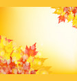 happy thanksgiving autumn background with leaves vector image vector image