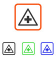 health warning framed icon vector image