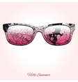 Hello summer sunglasses design vector image vector image