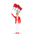 indonesia flag waving man and woman vector image vector image