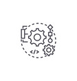 integration line icon sign vector image vector image