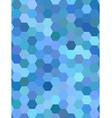 Light blue hexagon mosaic background design vector image vector image