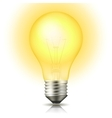 Lit Light Bulb vector image