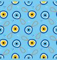 nazar amulets blue evil eye talismans pattern vector image vector image
