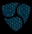 nem composition icon of halftone spheres vector image vector image