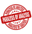 paralysis by analysis red grunge stamp vector image vector image