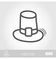 Pilgrim hat outline icon Harvest Thanksgiving
