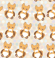 Polka dot background pattern Funny cute fox on dot vector image vector image