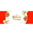 realistic raksha bandhan banner with gift boxes