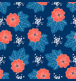 red-blue floral pattern trendy seamless floral vector image vector image
