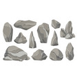 rocks and stones single or piled for damage and vector image vector image