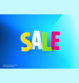 sale banner template design on colourful vector image