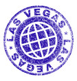 scratched textured las vegas stamp seal vector image