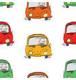 seamless pattern drivers on road vector image vector image