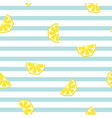 seamless striped lemon geometric pattern vector image vector image