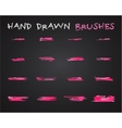 Set of pink hand drawndoodle sketched grunge vector image