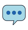 speech bubbles isolated icon vector image