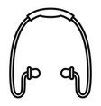 sport wireless earbuds icon outline style vector image vector image