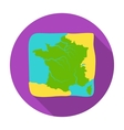 Territory of France icon in flat style isolated on vector image vector image