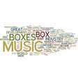 the music box industry then and now text vector image vector image