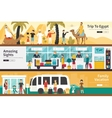Trip To Egypt Amazing Sights Family Vacation flat vector image